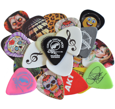 Your design on a guitar pick