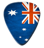 12 x Australian Flag Guitar Picks
