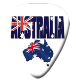12Australian Map with Flag Picks
