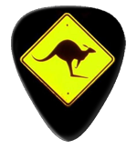12 Kangaroo Road Sign Guitar Picks