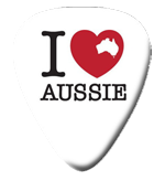 "12 ""I Love Aussie"" Guitar Picks"