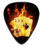 12 Flaming Cards Guitar Picks