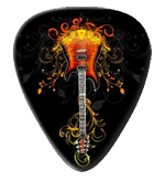 12 Flaming Fancy Guitar Picks