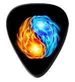 12 x Flaming Ying Yang Guitar Picks