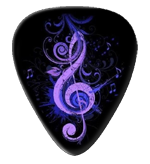 12 X Purple Treble Guitar Picks