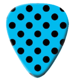12 X Blue Polka Guitar Picks