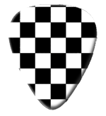 12 X B/W Checkered Picks