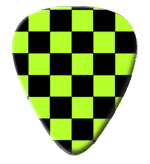 12 X Green Chekered Guitar Picks