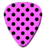 12 X Pink Polka Dot Guitar Picks